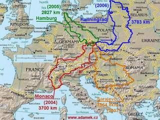 Mapka předchozích cest – náhled